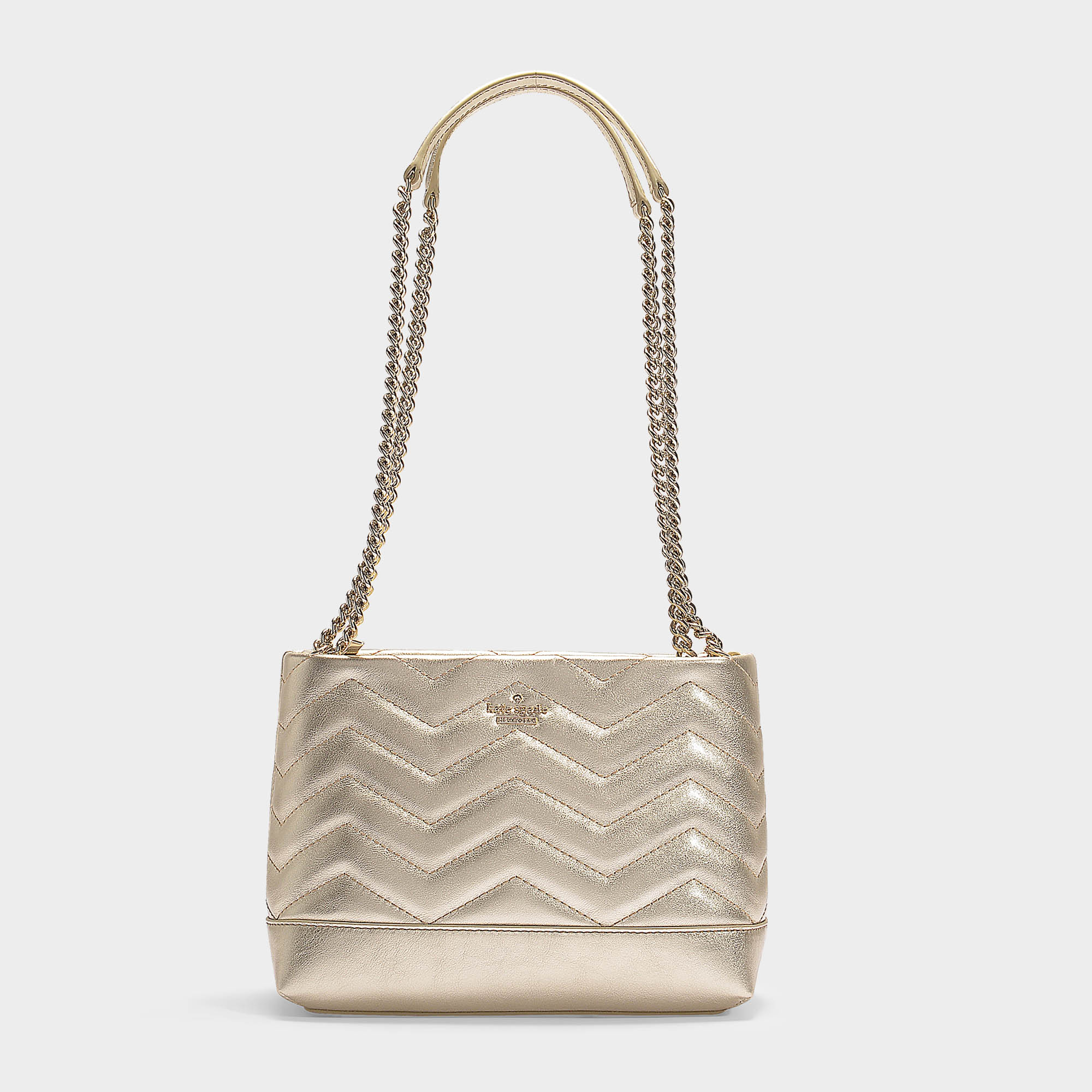 01b0b4082 Kate Spade New York | Reese Park Small Lorie Shoulder Bag In Pale Gold Quilted  Leather