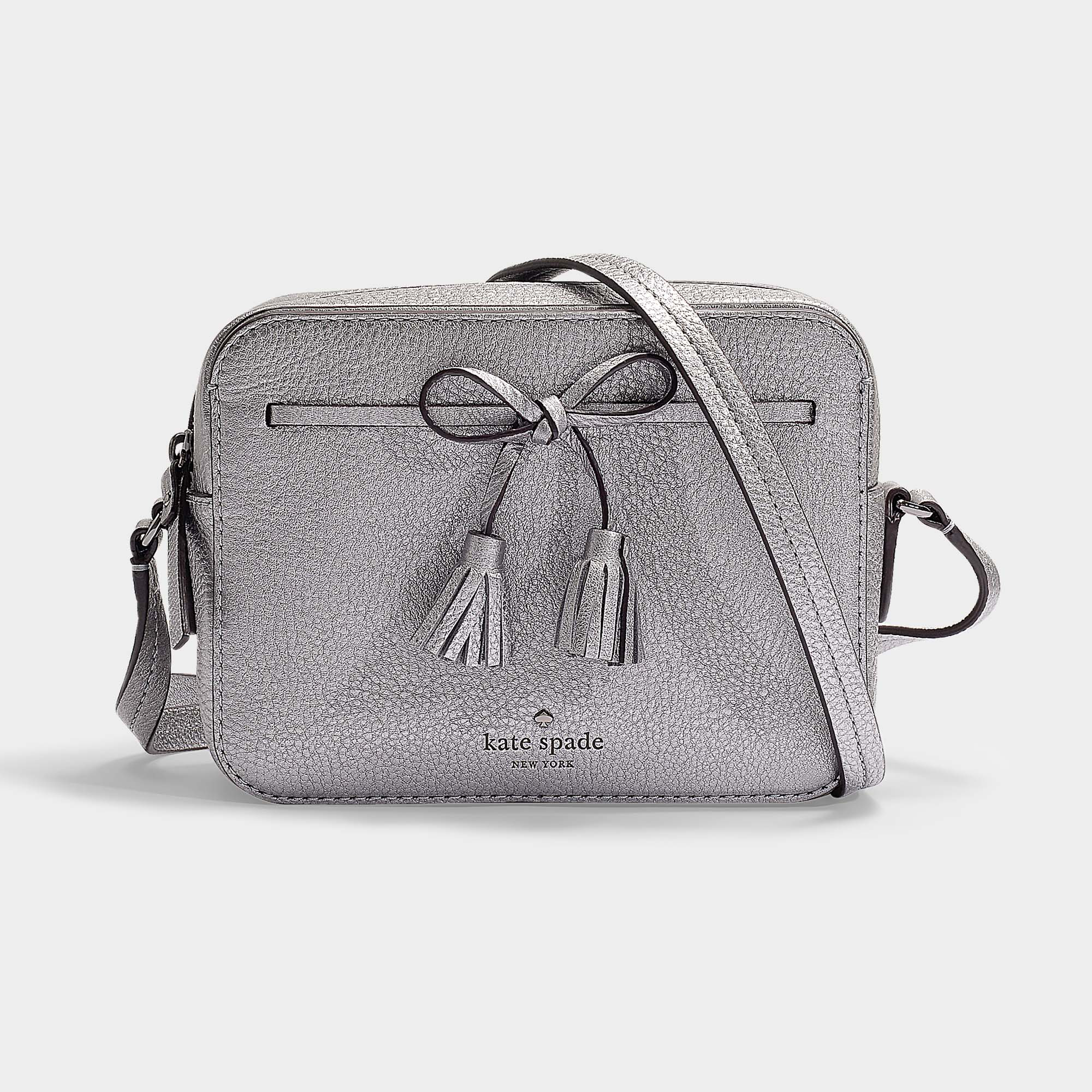 ad5559792570 Kate Spade New York | Hayes Street Arla Camera Bag In Black Pebble Leath In  Grey