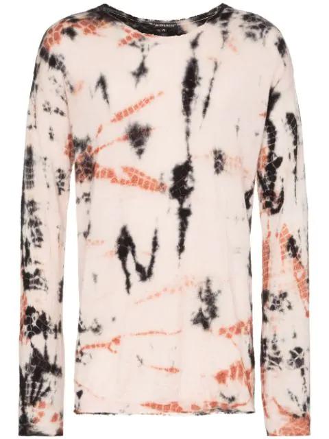 Ann Demeulemeester Tie Dye Sweater In Pink