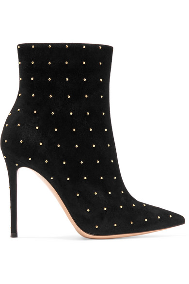 5581e3b7 Tyler 100 Studded Suede Ankle Boots in Black