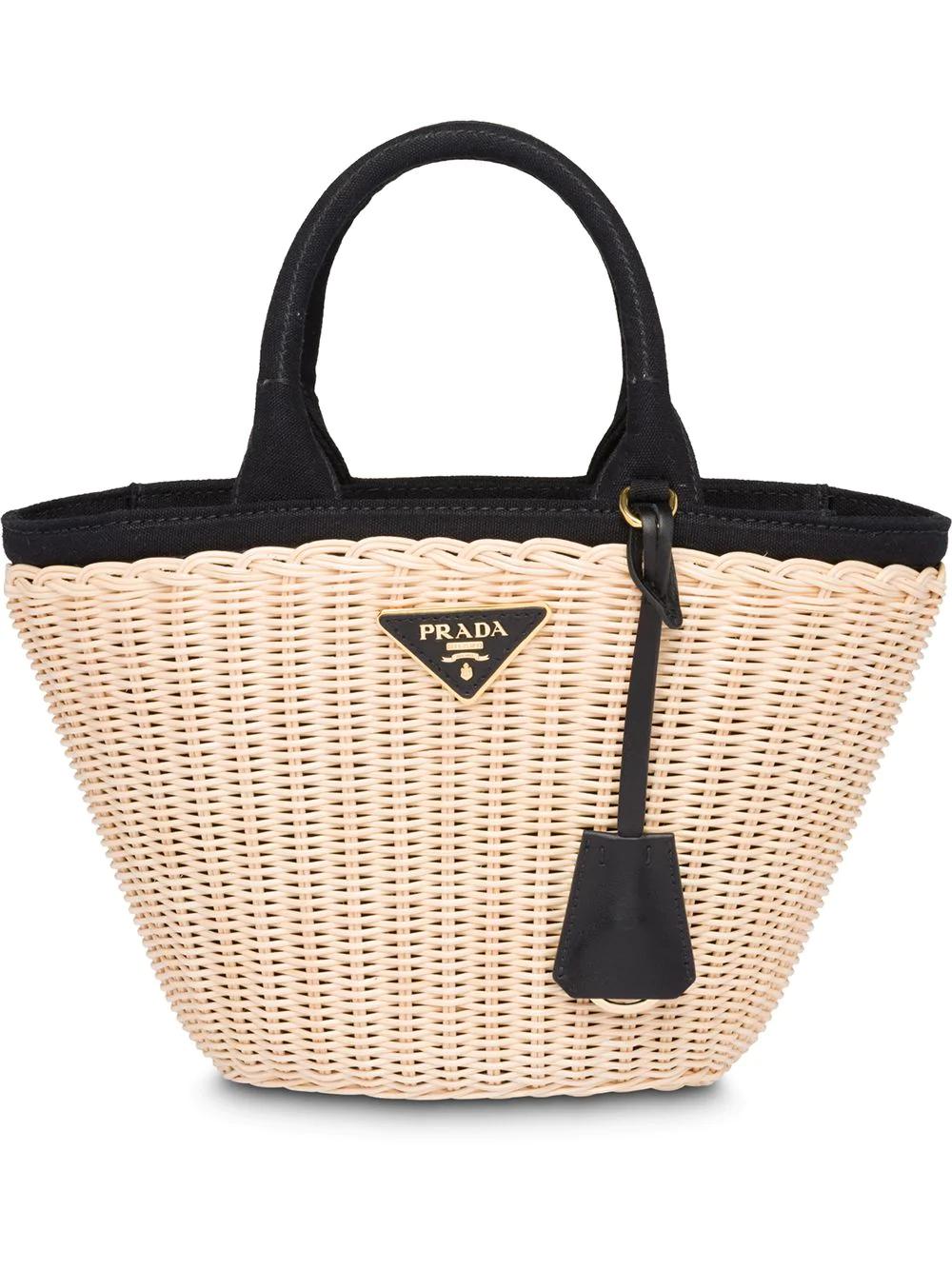 237d45b41776bd Prada Wicker Bag - Neutrals | ModeSens