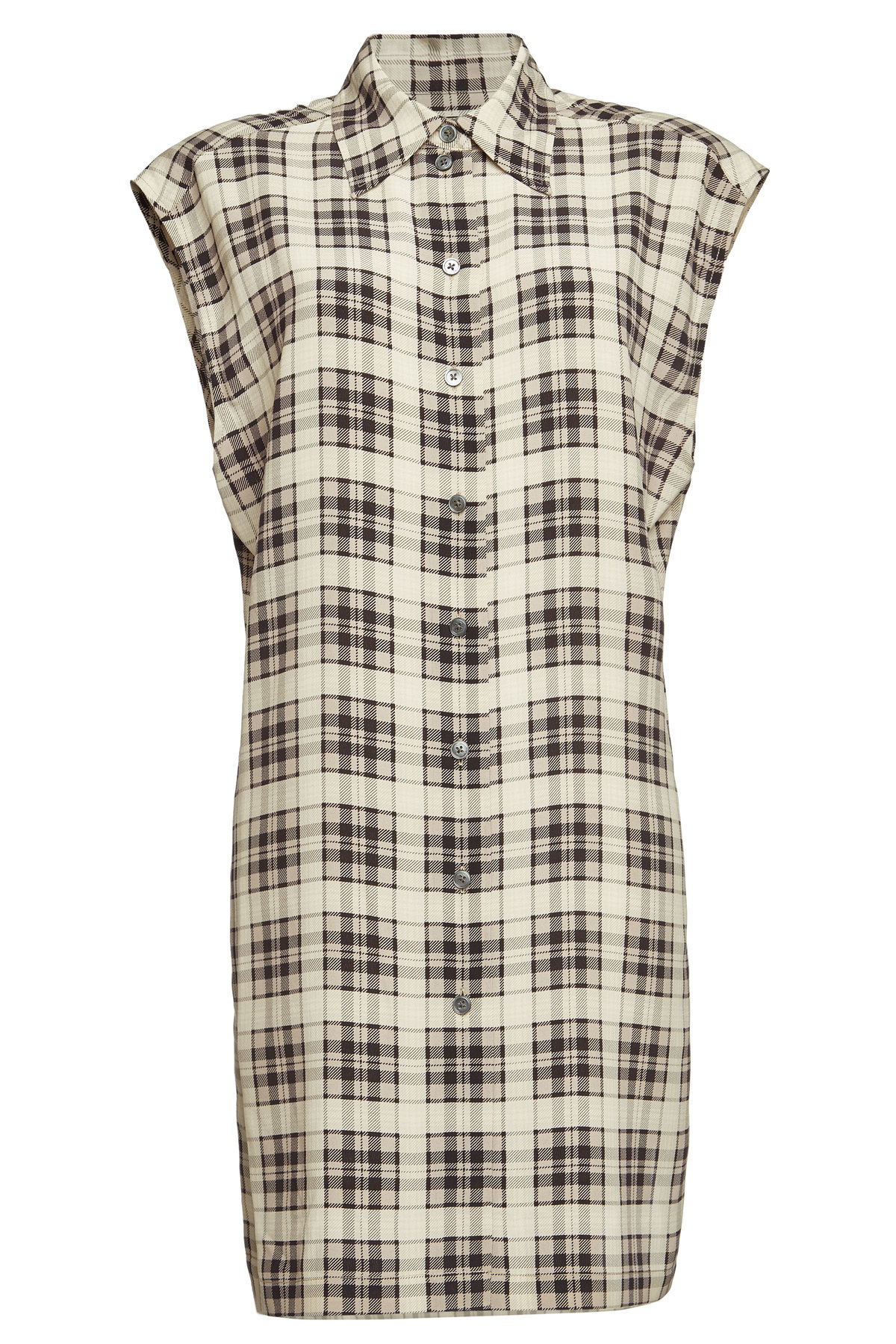 Marc Jacobs Checked Silk Top In Multicolored