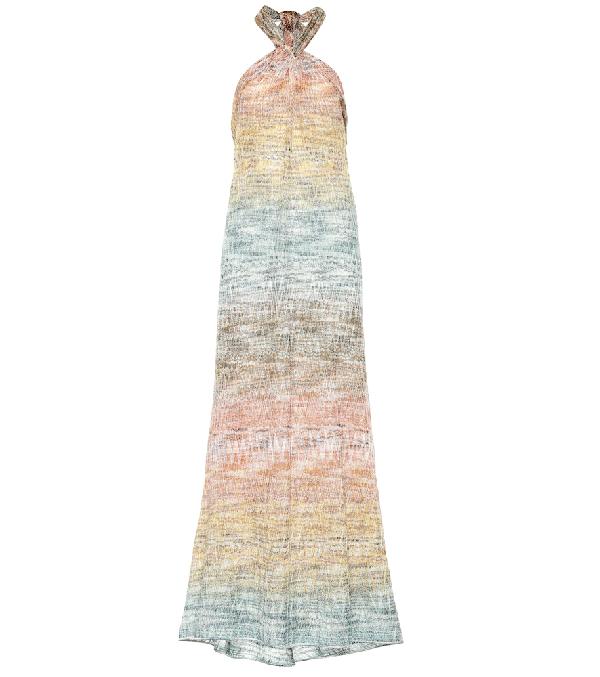 999d4ab7700a2 Missoni Sleeveless Maxi Dress With Metallic Thread In Multicoloured ...
