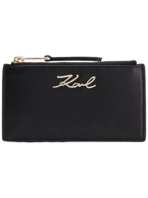 Karl Lagerfeld K/signature Cardholder In Black