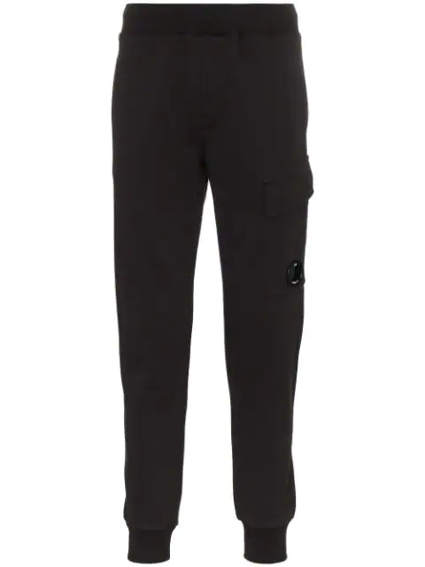 C.p. Company Cp Company Utility Pocket Cotton Track Pants In Black