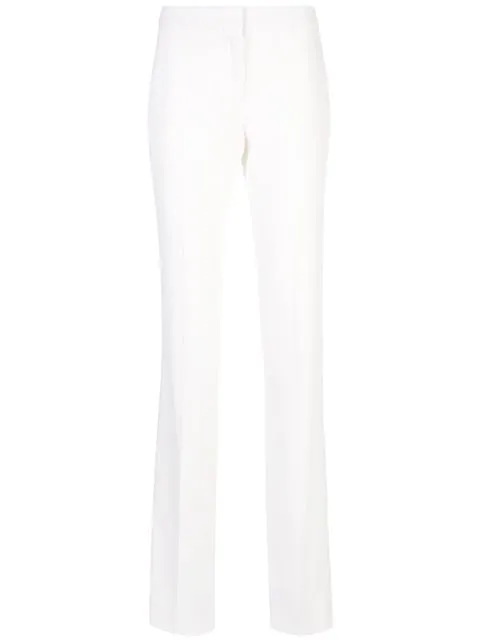 Alexander Mcqueen Bootcut Trousers In White