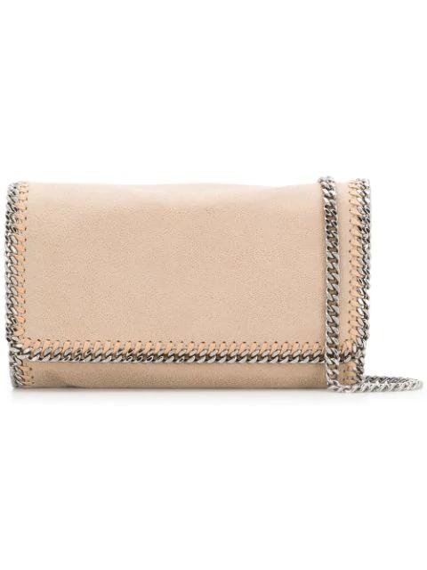 Stella Mccartney Beige Mini Falabella Shoulder Bag In Neutrals