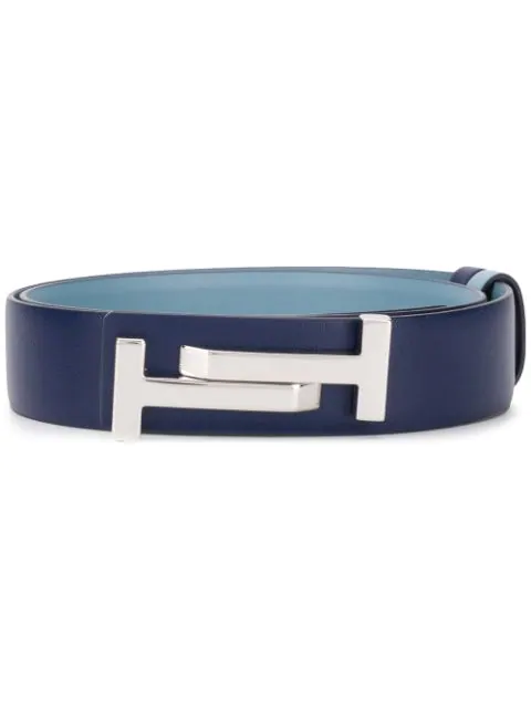 Tod's Double T Belt In Blue
