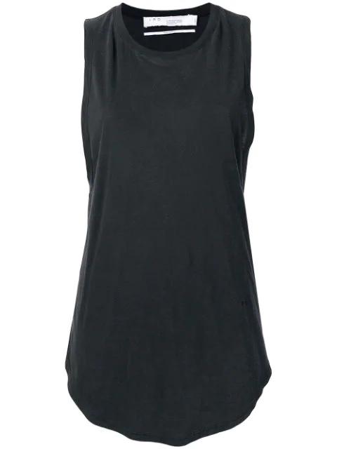 Iro Curved Hem Vest Top In Black