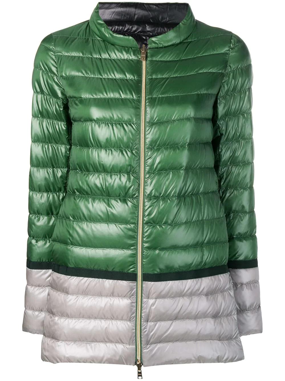 8ef8d575a6b8 Herno Colour-Block Puffer Jacket - Green