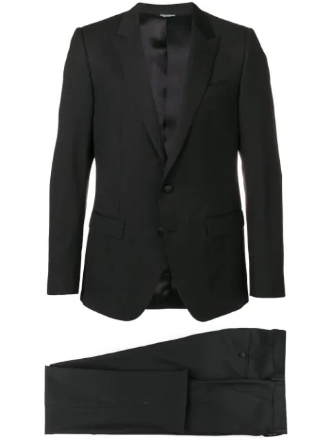 Dolce & Gabbana Single-breasted Dinner Suit In Black