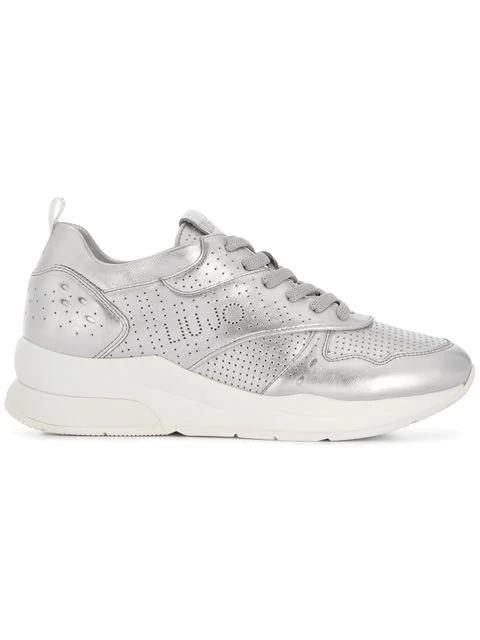 Liu •jo Karlie 14 Sneakers In Metallic