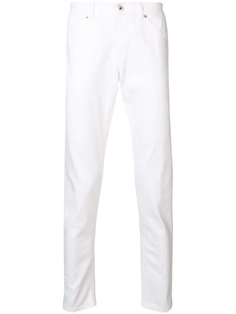 Dondup Straight Leg Trousers In 000 Bianco