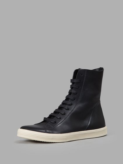 Rick Owens Black Mastodon High-top Sneakers In Llack