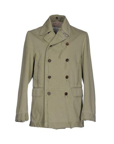 Maison Margiela Double Breasted Pea Coat In Military Green