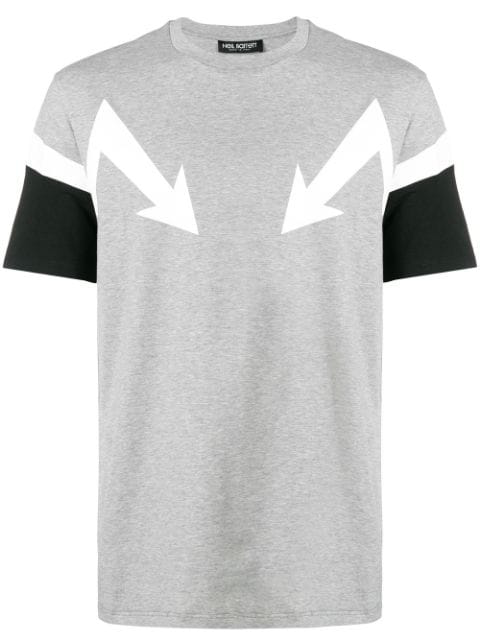 Neil Barrett Arrows Print T-Shirt In Grey