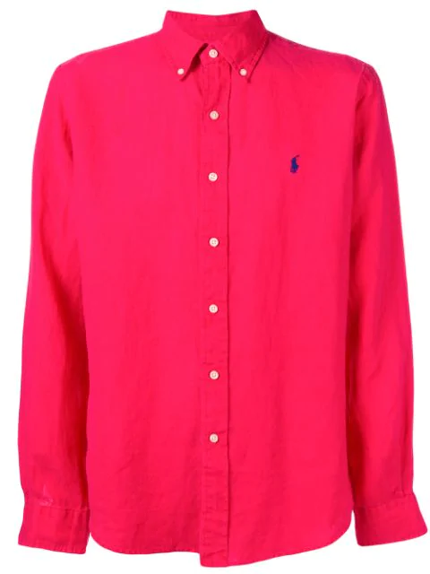 Polo Ralph Lauren Button Down Shirt In Red