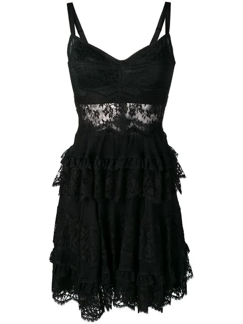 Dolce & Gabbana Lace-styled Dress In Black