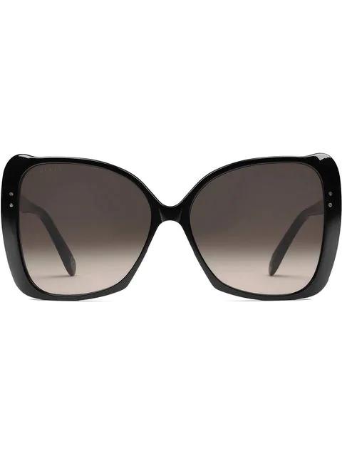 Gucci Oversize Square-Frame Sunglasses In Black