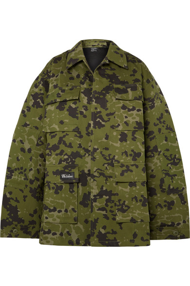 4e22812d299a1 We11 Done Camouflage-Print Cotton Jacket In Army Green | ModeSens