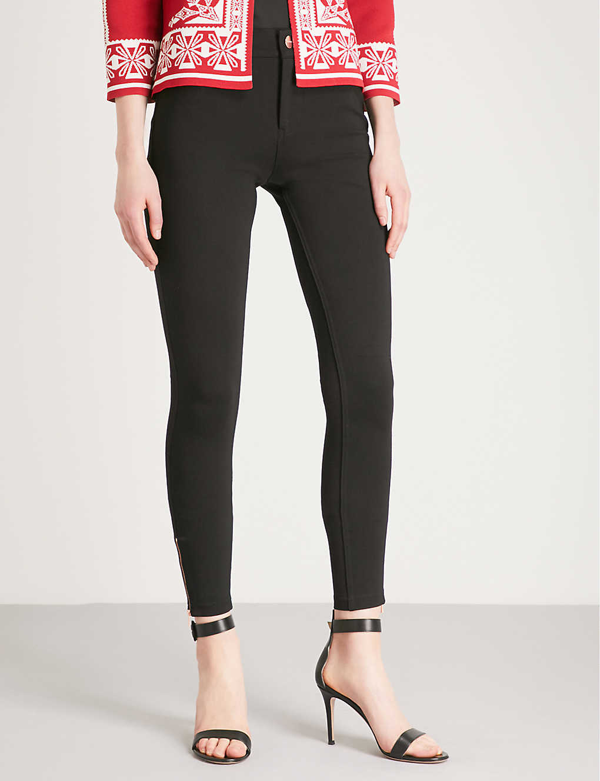 Ted Baker Fioni Skinny Mid-rise Jeans In Black
