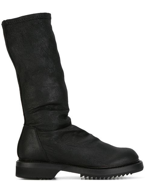 Rick Owens Sock Creeper Boots In Black