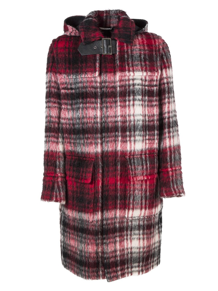 Valentino Wool Montgomery Coat In Multiple Colors