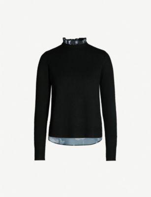 Ted Baker Narrnia Printed-Back Knitted Jumper In Black