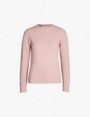 Ted Baker Gorjie Textured Wool-Blend Jumper In Dusky Pink