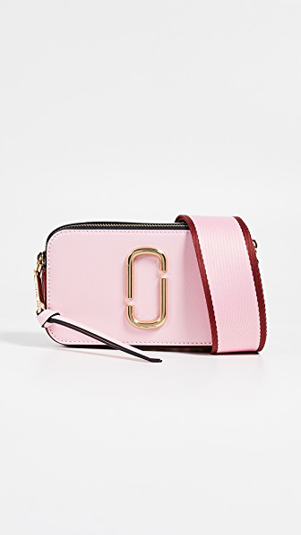 9230e8031e1 Marc Jacobs Snapshot Saffiano Leather Shoulder Bag In Pink/Red ...