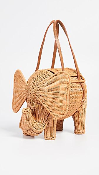 b2068ccfa Serpui Marie Elephant Wicker Clutch In Natural | ModeSens