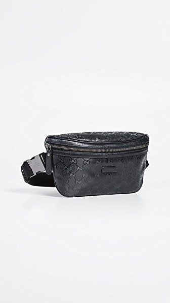 e92a45169862a9 What Goes Around Comes Around Gucci Imprime Waist Pouch In Black ...