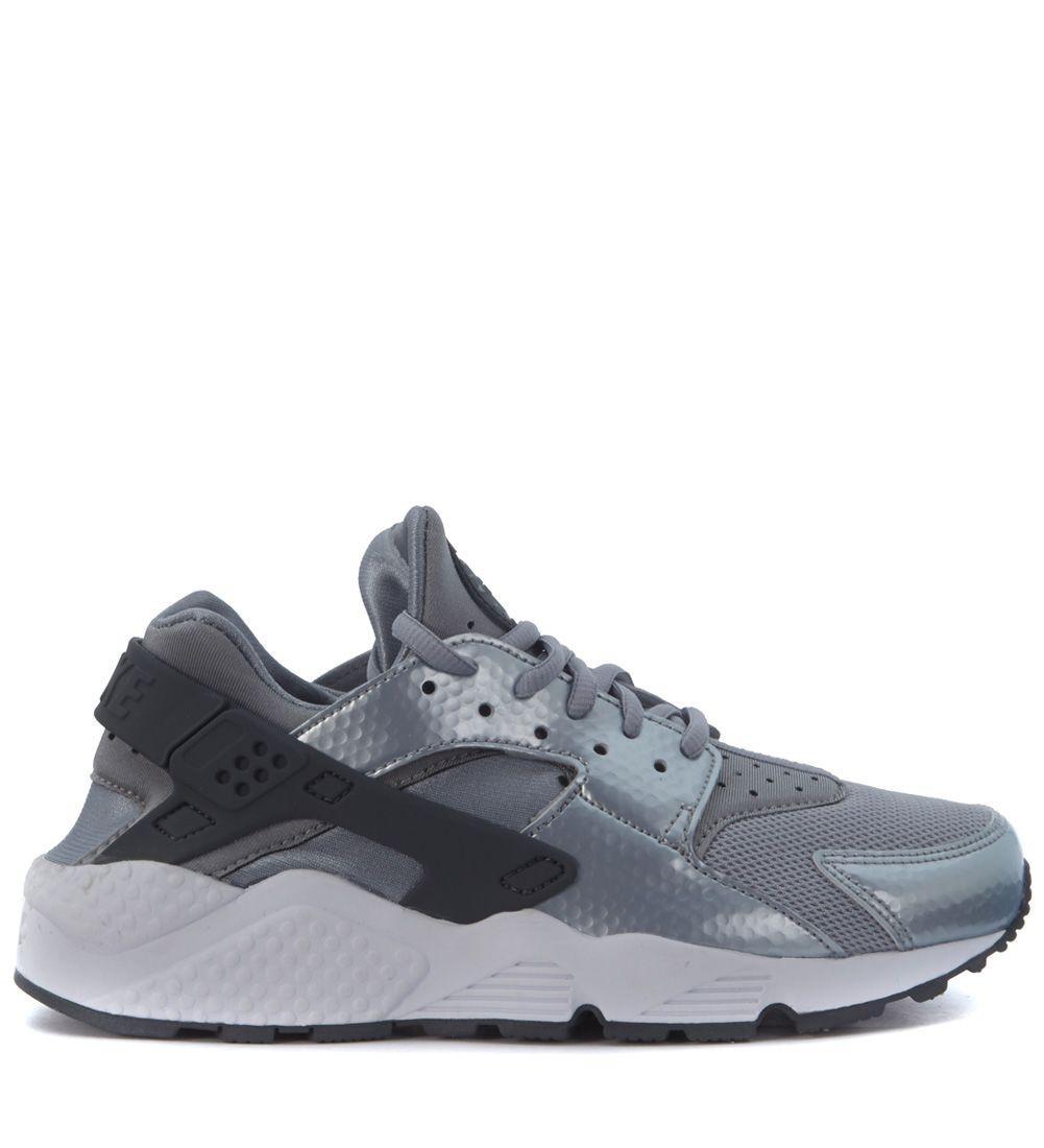 Nike Sneaker  Air Huarache Run Total Silver In Argento