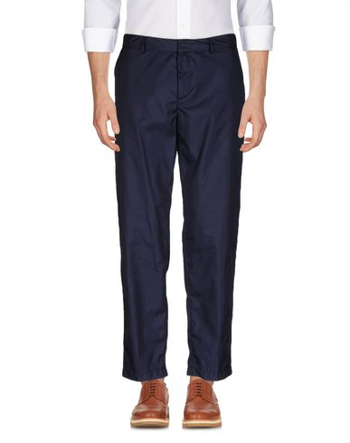Msgm Casual Pants In Dark Blue