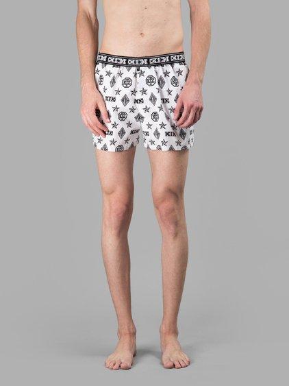 Ktz White/black Boxer Shorts