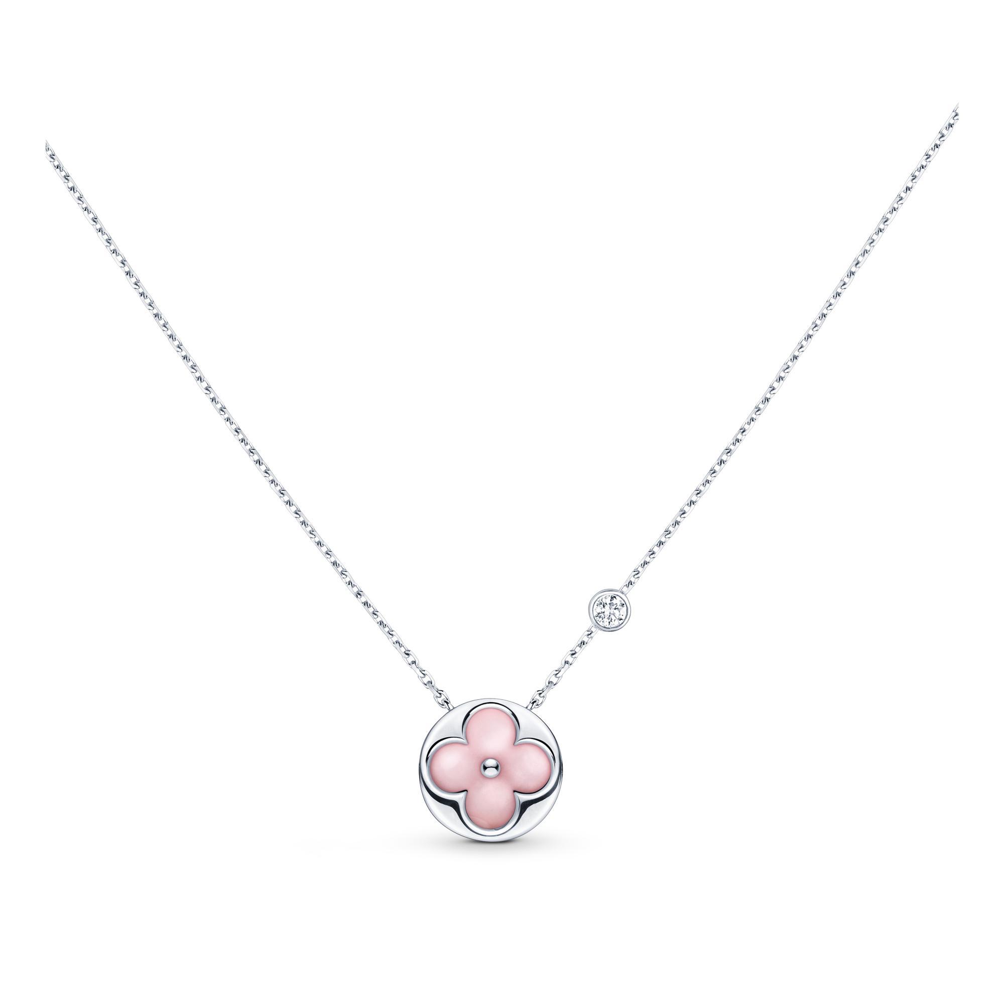 0dc0beb170e Color Blossom Bb Sun Pendant, White Gold, Pink Opal And Diamond
