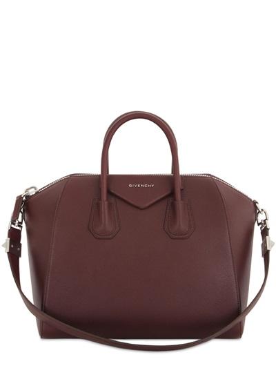 965a03527b3 Givenchy Antigona Medium Sugar Goatskin Satchel Bag, Oxblood | ModeSens