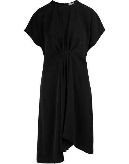Kenzo Asymmetrical Dress In Black