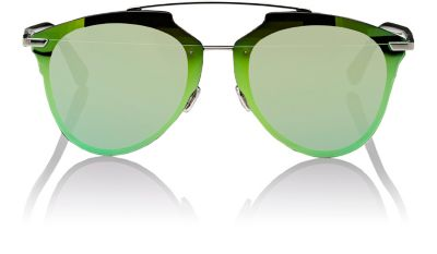 8955ff64e198e Dior Reflected Prism 63Mm Oversize Mirrored Brow Bar Sunglasses - Dark  Ruthenium  Green