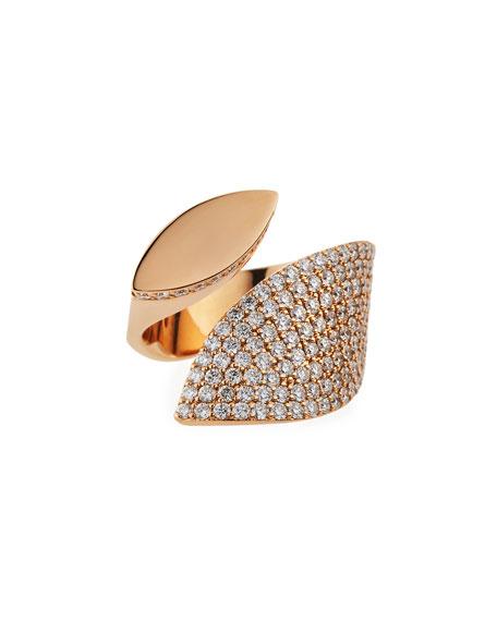 Roberto Coin 18K Rose Gold Diamond Petal Ring