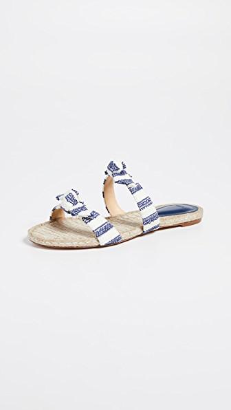 Alexandre Birman Clarita Braided Slide Sandals In Nightsky