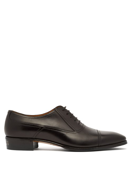 Gucci Leather Plata Oxford Shoes In Black