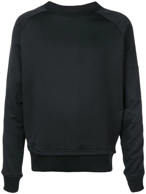 Just Cavalli Animal Sleeve Print Sweatshirt In Black