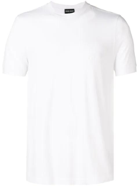 Giorgio Armani T-shirt In White Cotton
