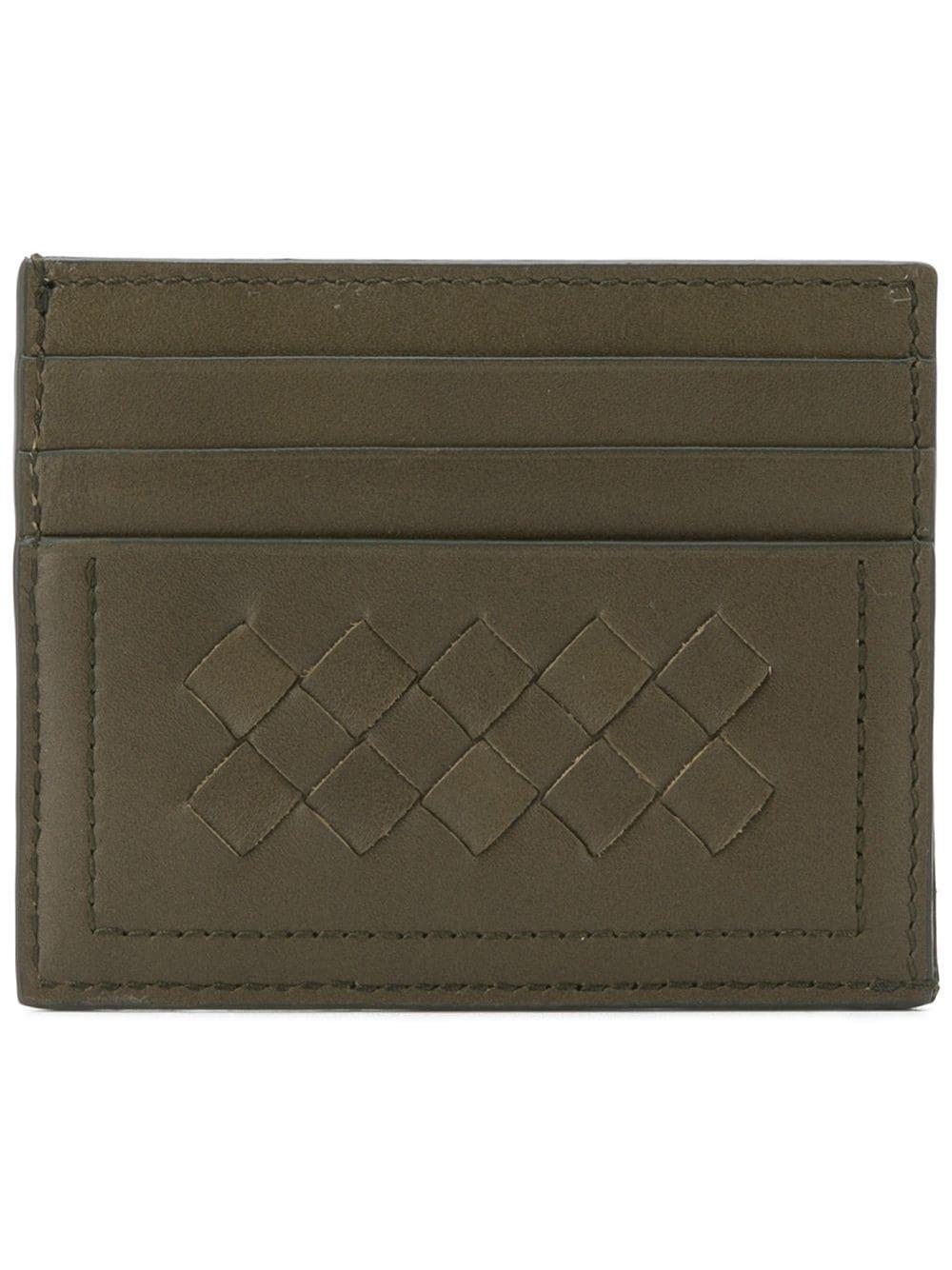 62dcd98af0 Bottega Veneta Bi-Fold Intrecciato Wallet - Green