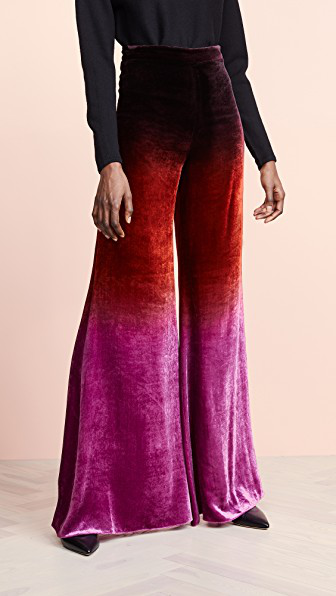 Cushnie High Waisted Wide Leg Pants In Dusk Ombre