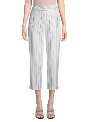 Robert Rodriguez Cropped Corset Pant In White