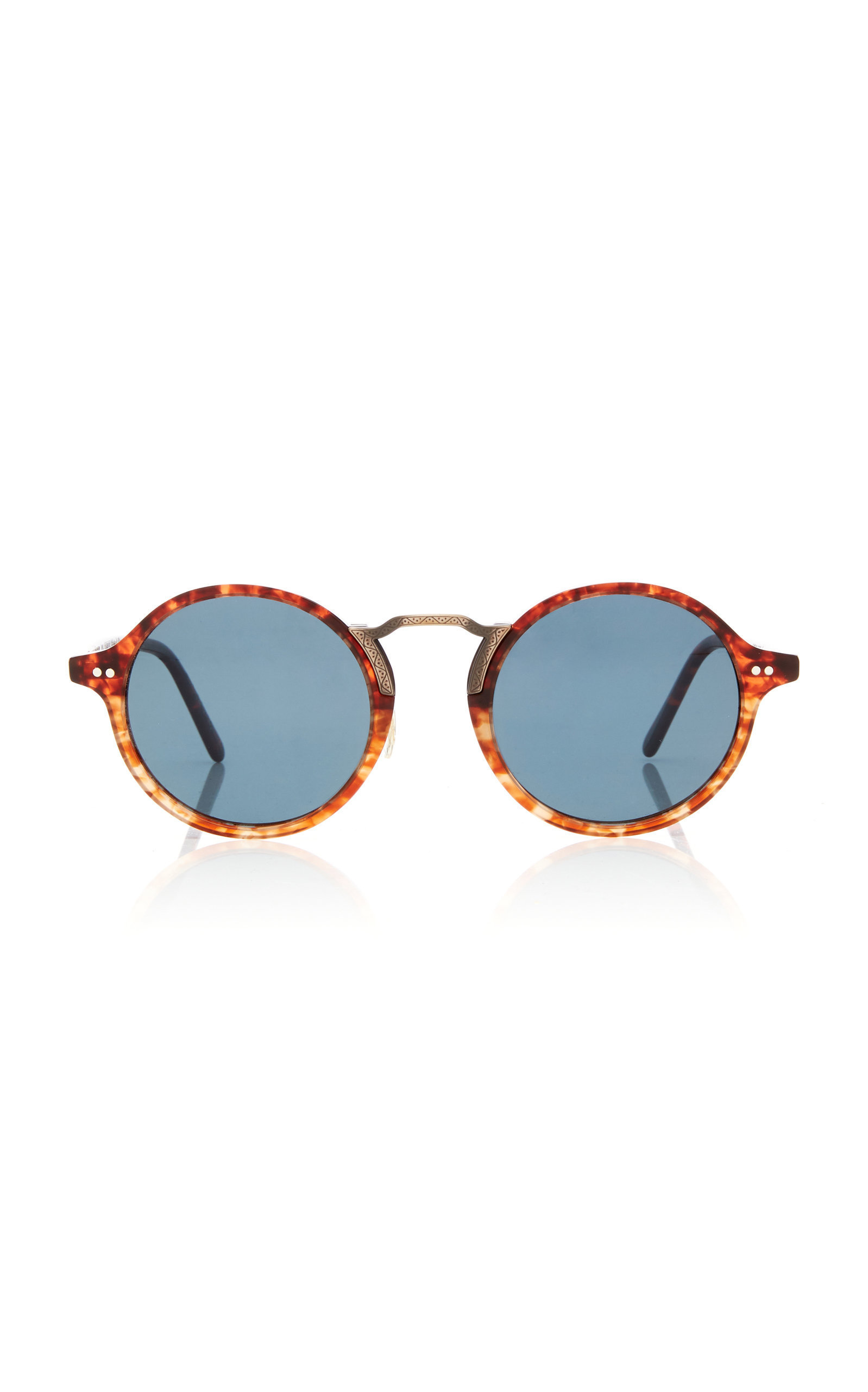 0d4bf16065bdd Oliver Peoples Kosa Round-Frame Acetate Sunglasses In Blue