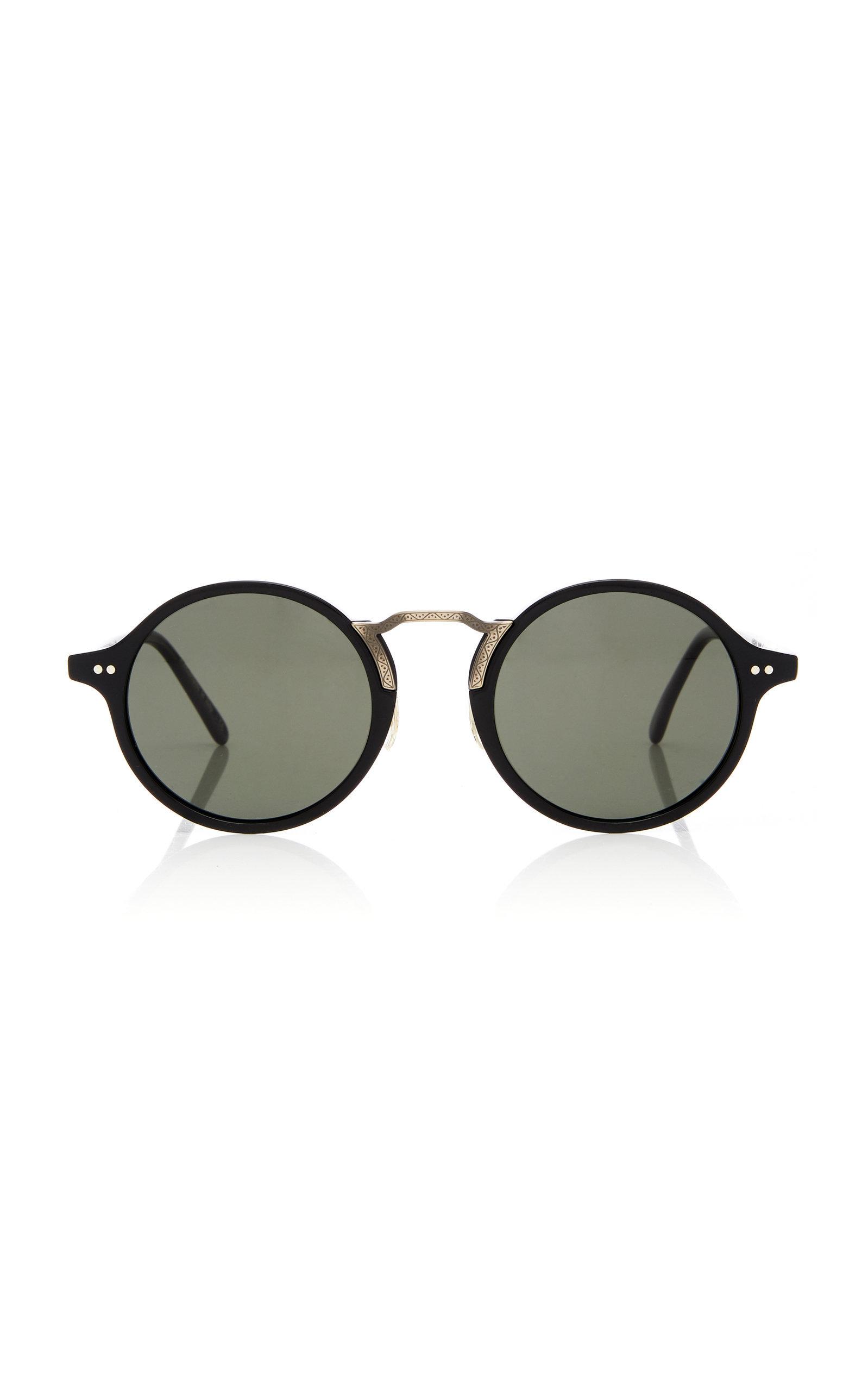 f16137667e529 Oliver Peoples Men s Kosa 48 Round Sunglasses - Polarized In Black ...
