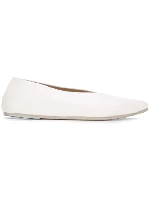 MarsÈll Pointed Toe Loafers In White